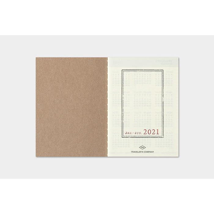 <center>TRAVELER'S notebook Passport Size Refill - 2021 Weekly</center>