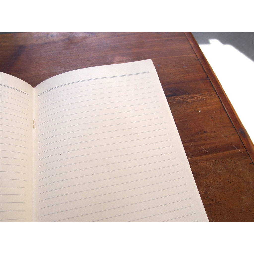 <center>Midori Color Paper Lined Notebook A5 - Brown</center>