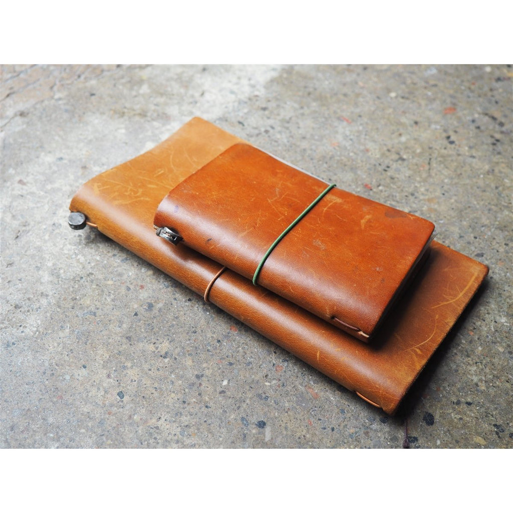 <center>Traveler's Notebook Passport Size - Camel Leather</center>