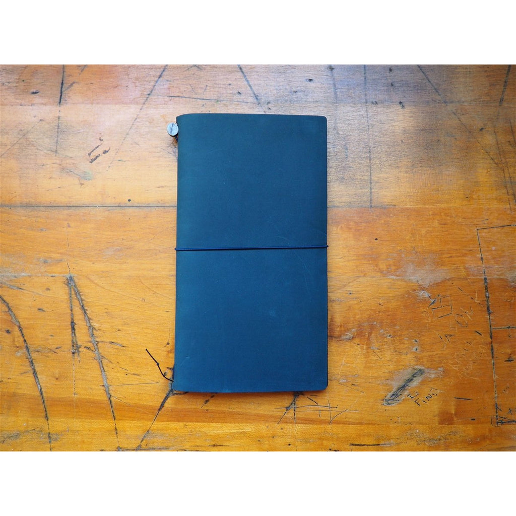 <center>Traveler's Notebook Regular Size - Blue Leather</center>