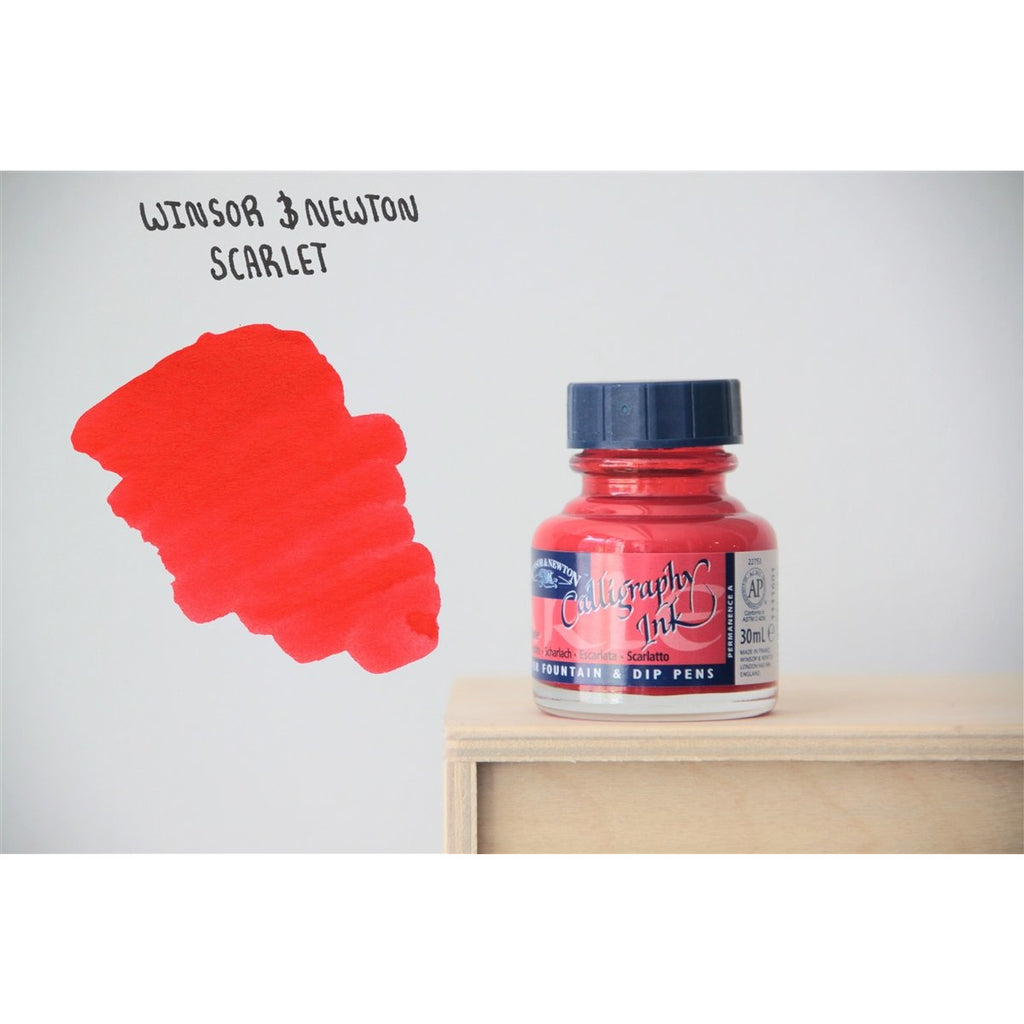 <center>Winsor & Newton Calligraphy Ink (30mL) - Scarlet Red</center>