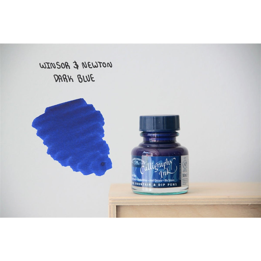 <center>Winsor & Newton Calligraphy Ink (30mL) - Dark Blue</center>