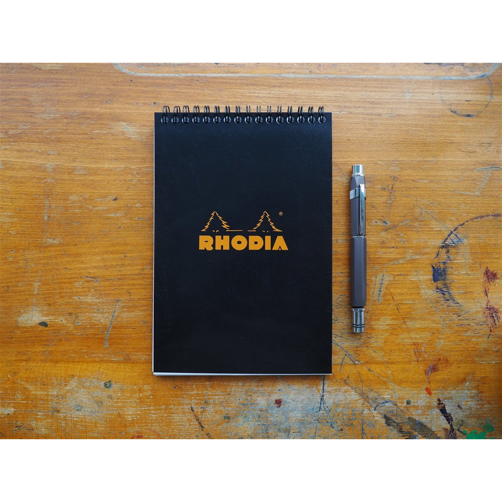 <center>Rhodia Top Spiral Pad No. 16 - Lined - Black (A5)</center>