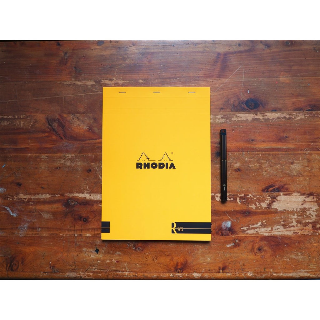 "<center>Rhodia ""R"" Premium Paper Lined Pad - Orange (A4)</center>"