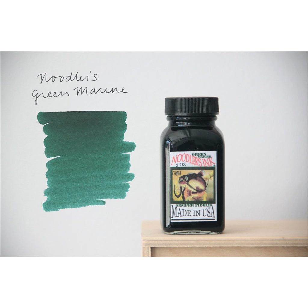 <center>Noodler's Fountain Pen Ink (3oz/90mL) - Green Marine</center>