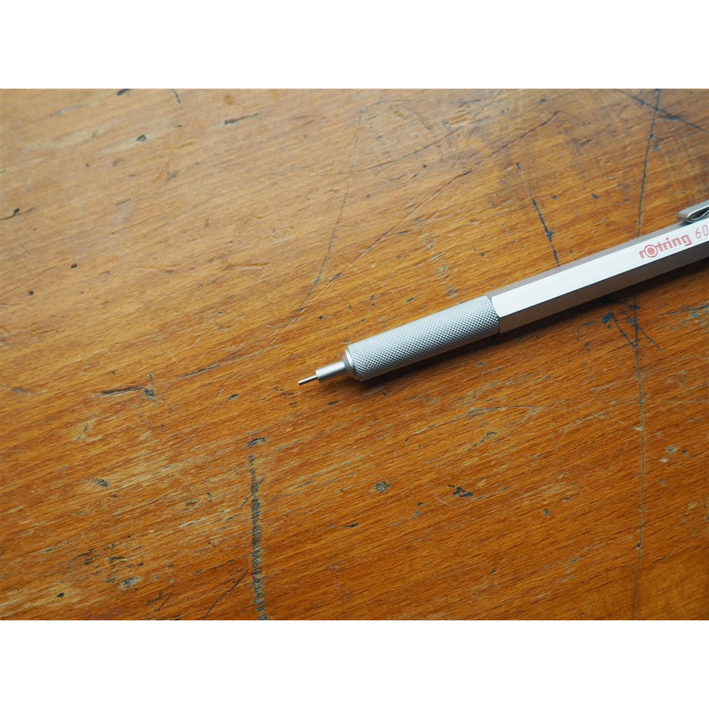 <center>rOtring 600 Mechanical Pencil - 0.7mm - Silver</center>