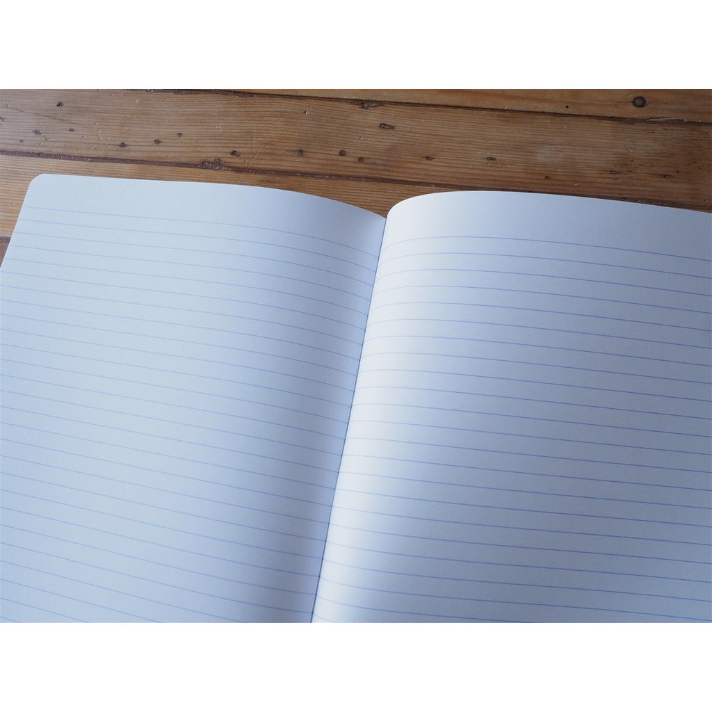 <center>Rhodia Side-Stapled Notebook - Lined - Black (A5)</center>