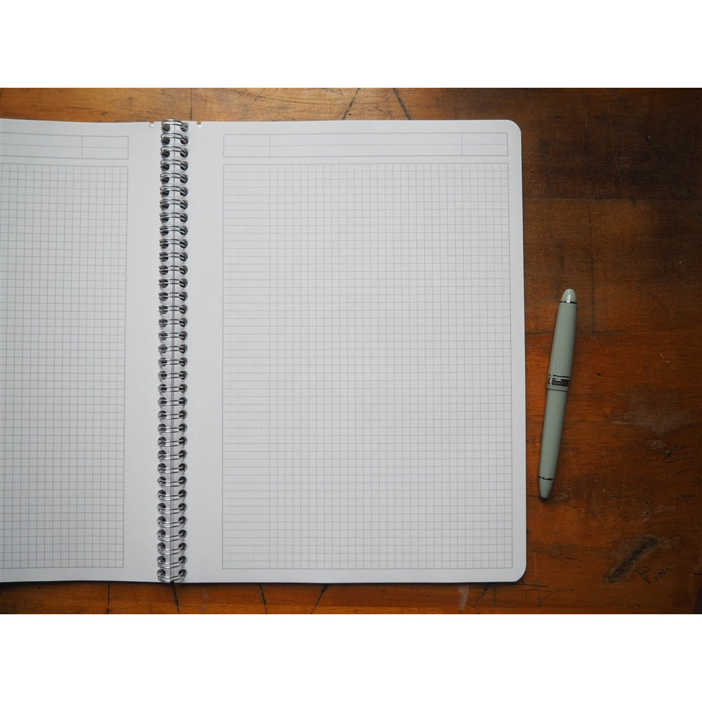 <center>Rhodia Classic Spiral Bound Notebook Graph - A4 Ice White (21cm x 29.7cm)</center>
