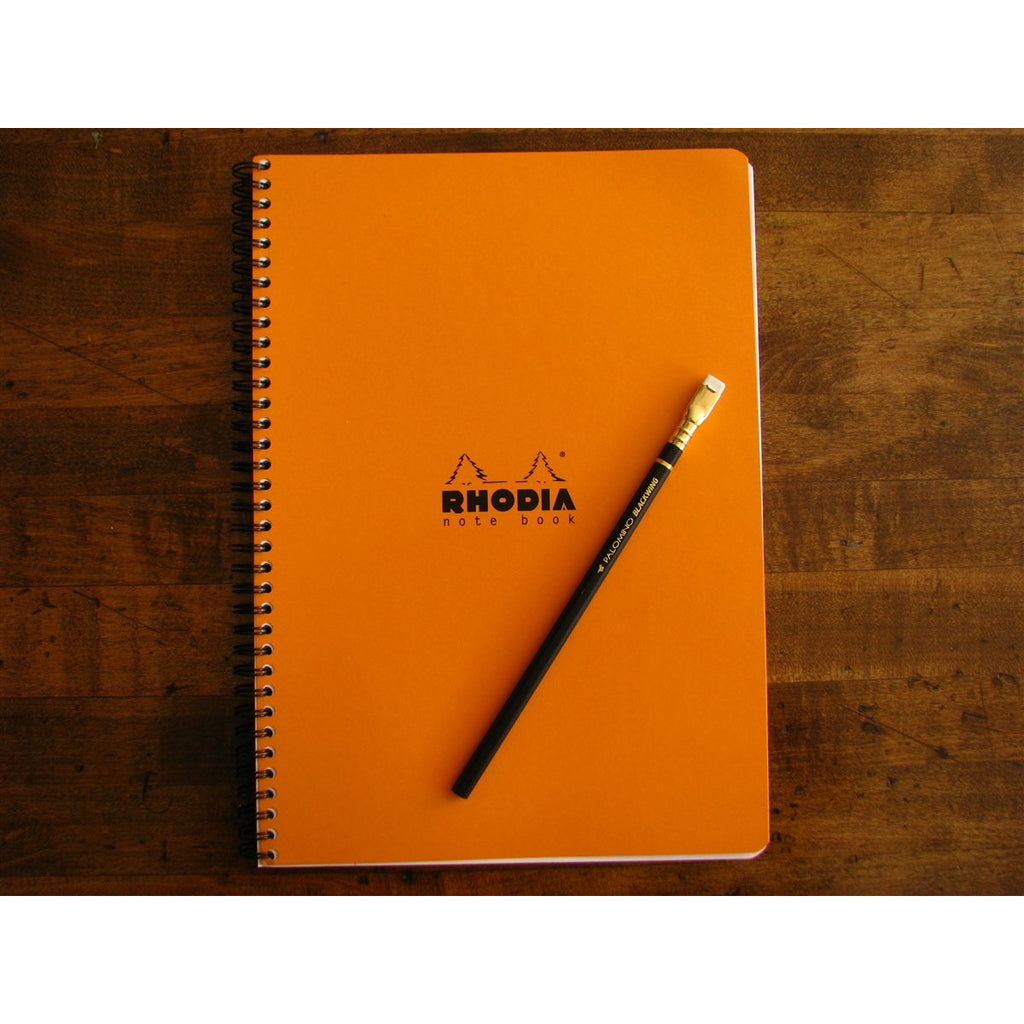 <center>Rhodia Classic Spiral Bound Notebook Lined - A4 Orange (21cm x 29.7cm)</center>