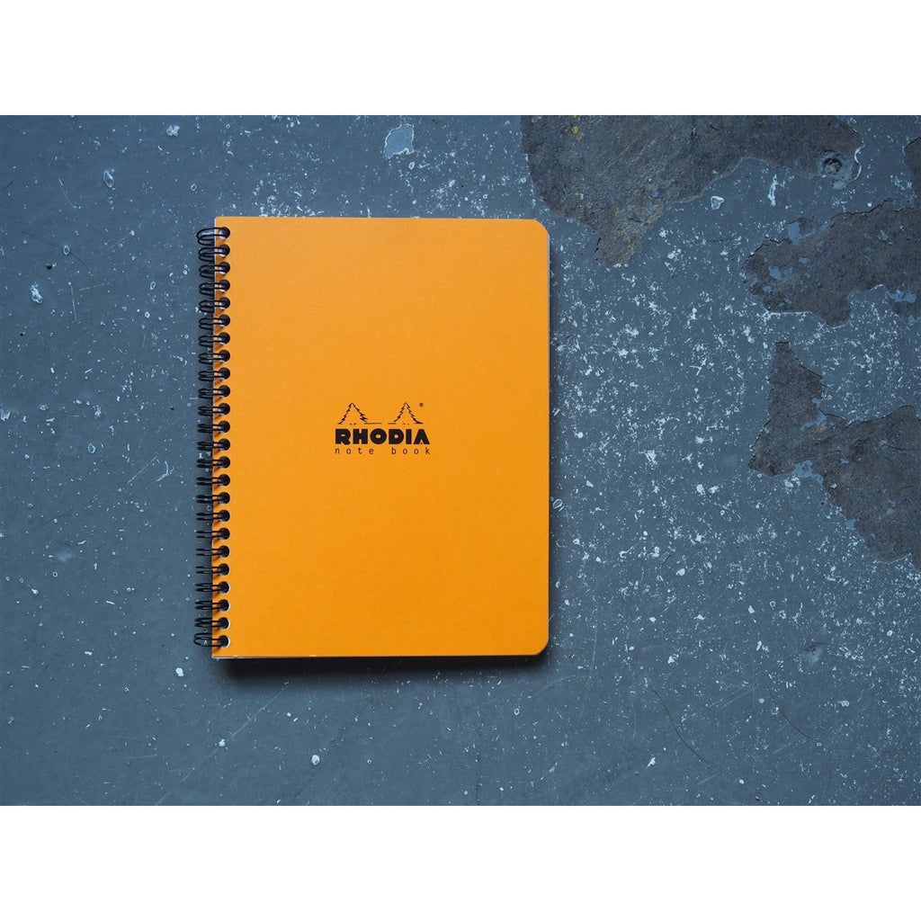 <center>Rhodia Classic Spiral Bound Notebook Lined - Orange (16cm x 21cm)</center>