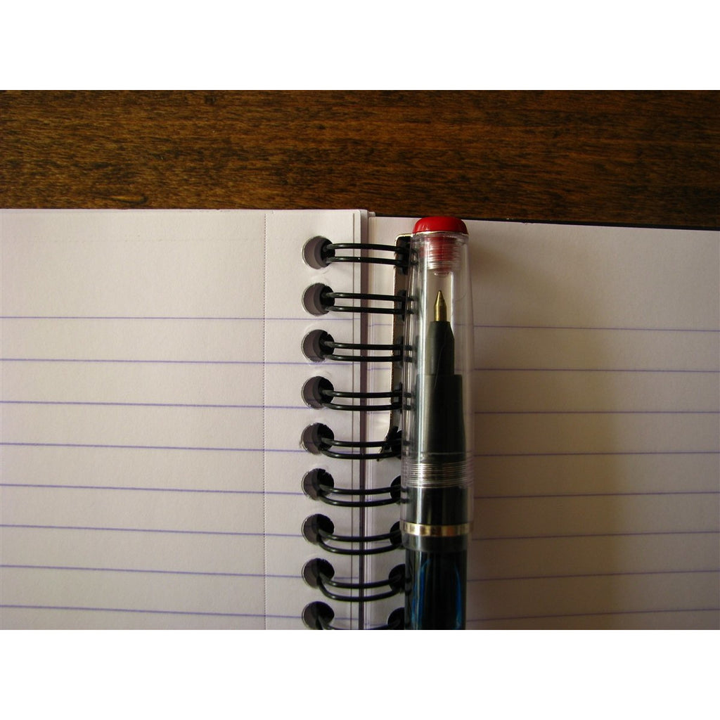 <center>Rhodia Classic Spiral Bound Notebook Lined - Black (16cm x 21cm)</center>