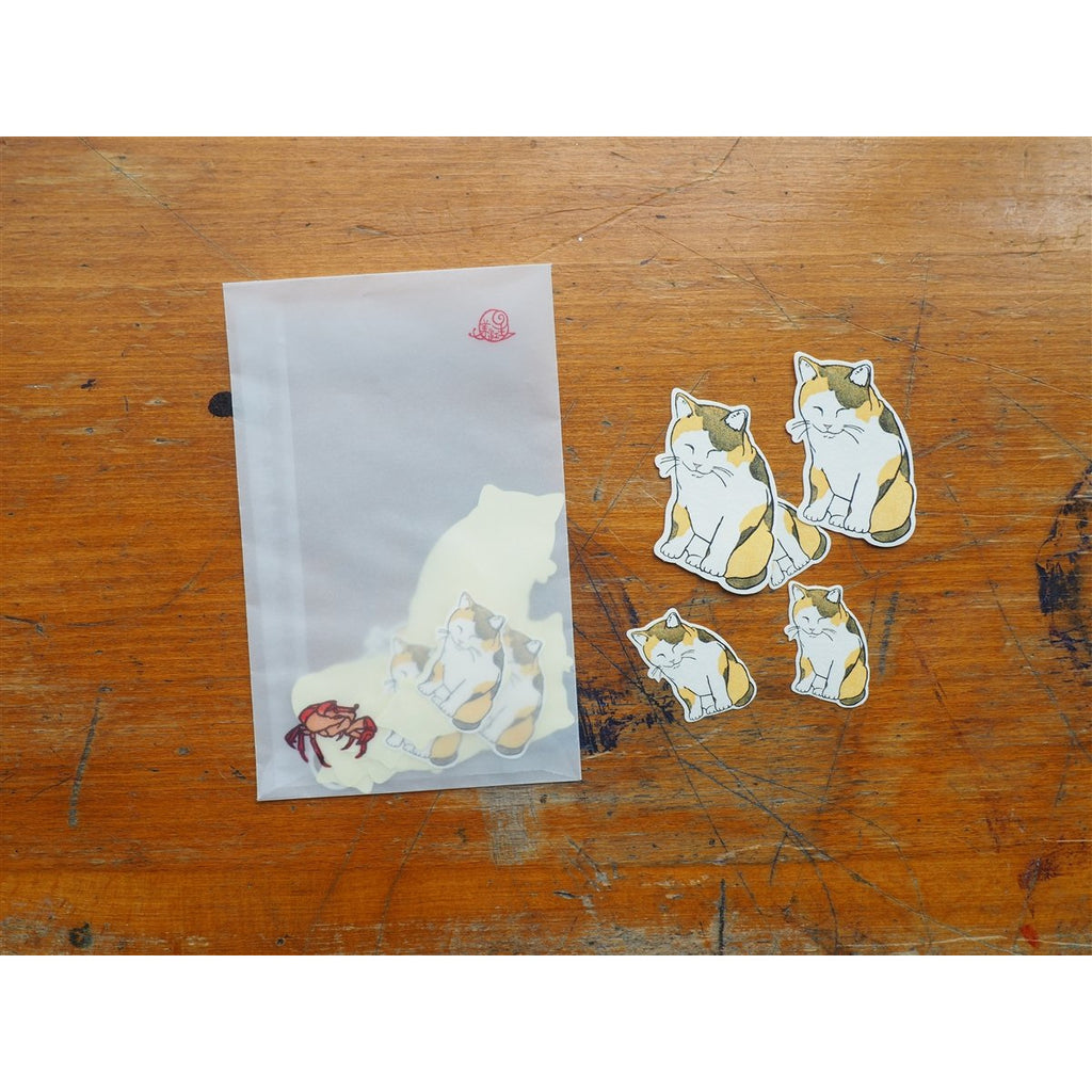 <center>Classiky Ugyokusha Stickers - 20 Pieces - Kitten</center>
