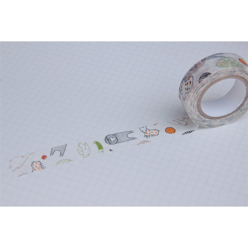 <center>Classiky Washi Tape - Beasts Green</center>