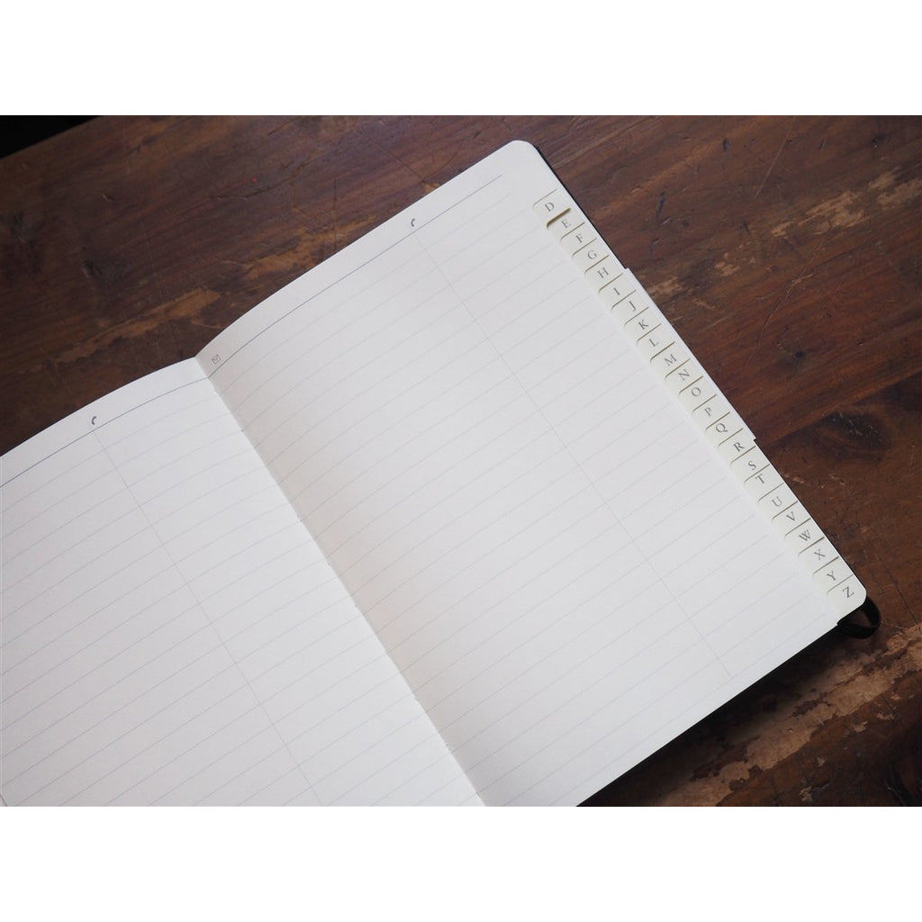 <center>Leuchtturm Address Book with Index (A5) - Black</center>