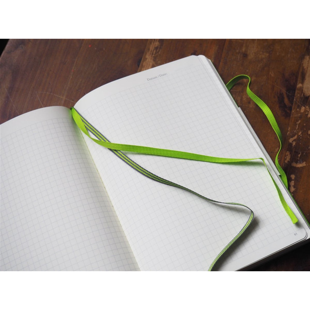 <center>Leuchtturm Hardcover A5 Notebook - Lime Green (Grid)</center>