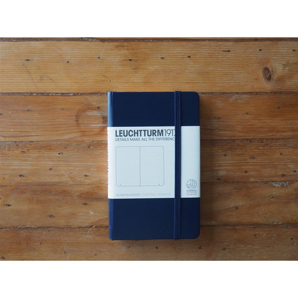 <center>Leuchtturm Hardcover A6 Pocket Notebook - Navy (Dot)</center>