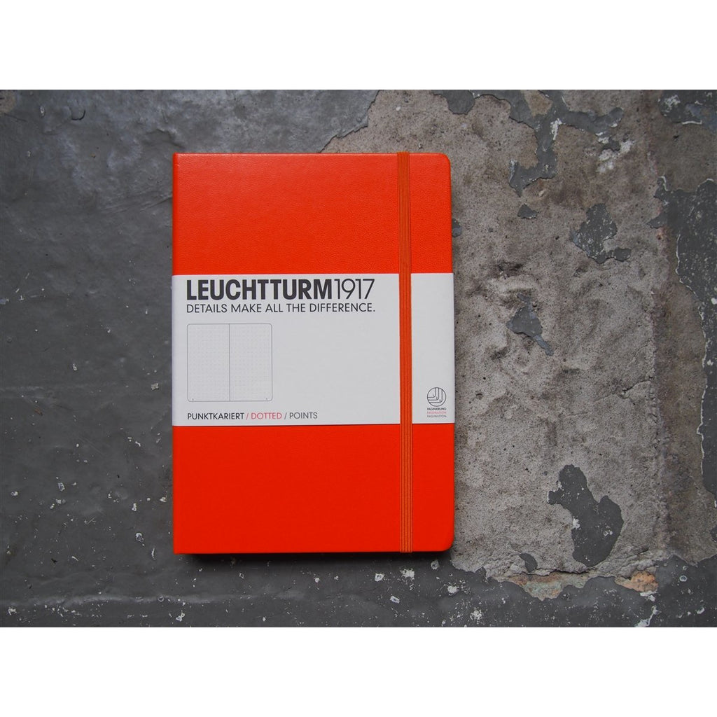 <center>Leuchtturm Hardcover A5 Notebook - Orange (Dot)</center>