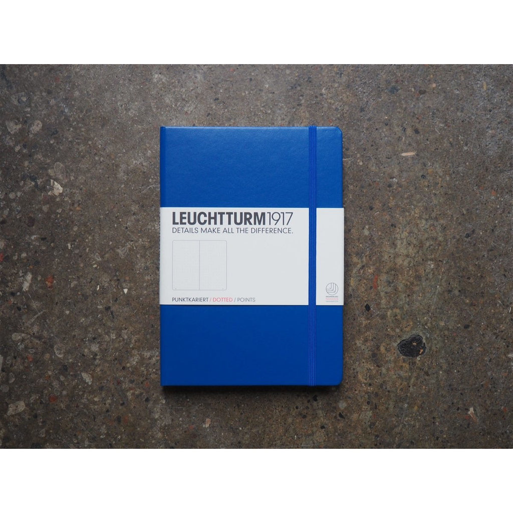 <center>Leuchtturm Hardcover A5 Notebook - Royal Blue (Dot)</center>