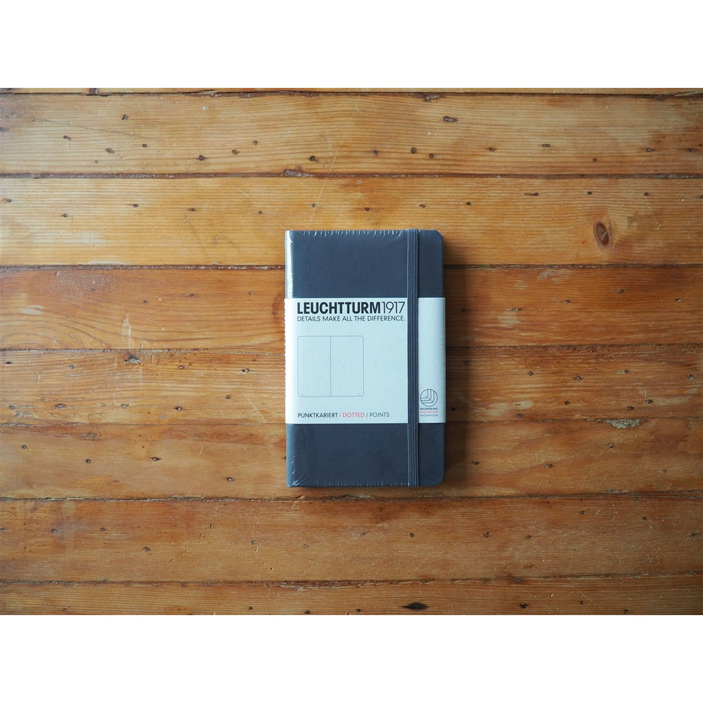 <center>Leuchtturm Hardcover A6 Pocket Notebook - Anthracite (Dot)</center>