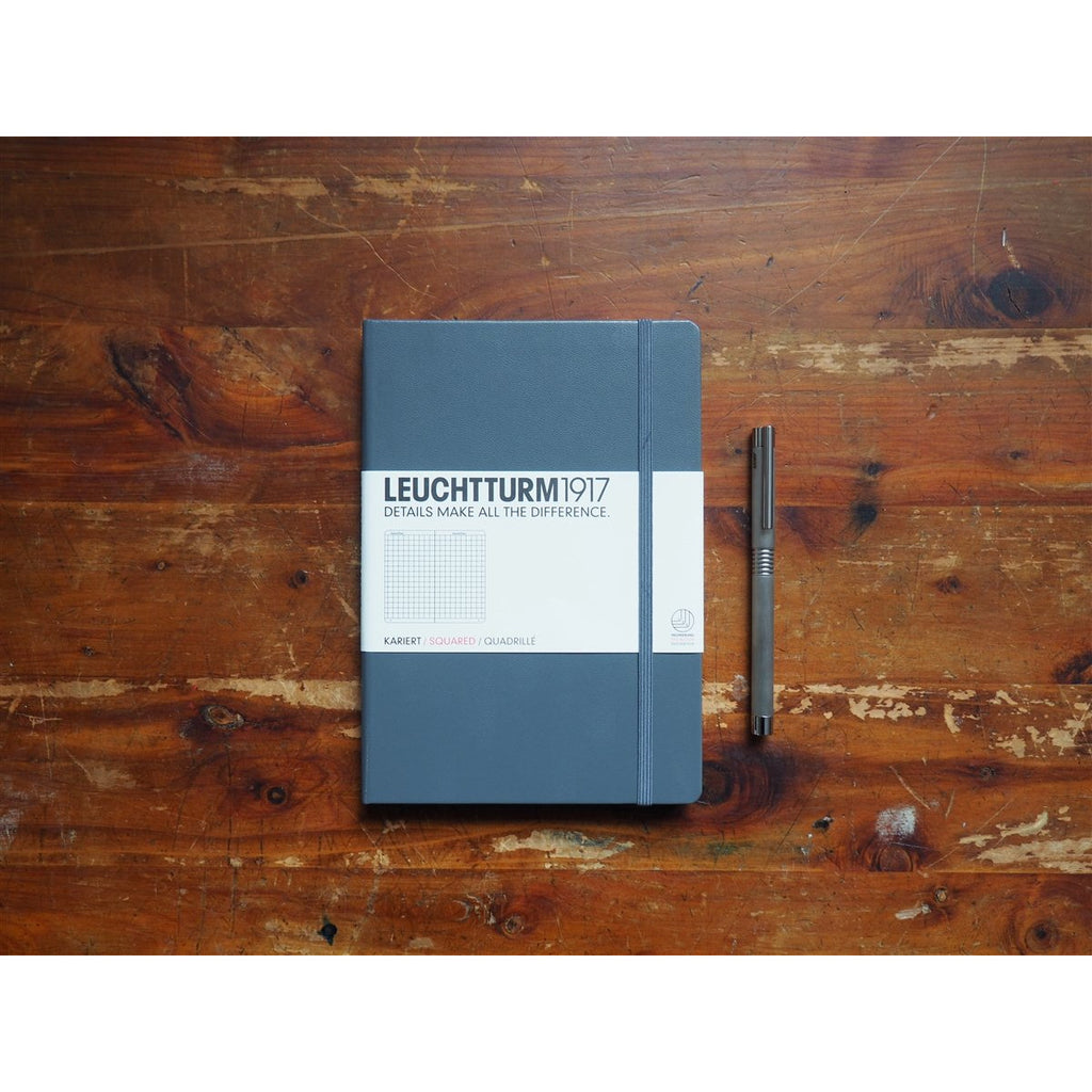 <center>Leuchtturm Hardcover A5 Notebook - Anthracite (Grid)</center>