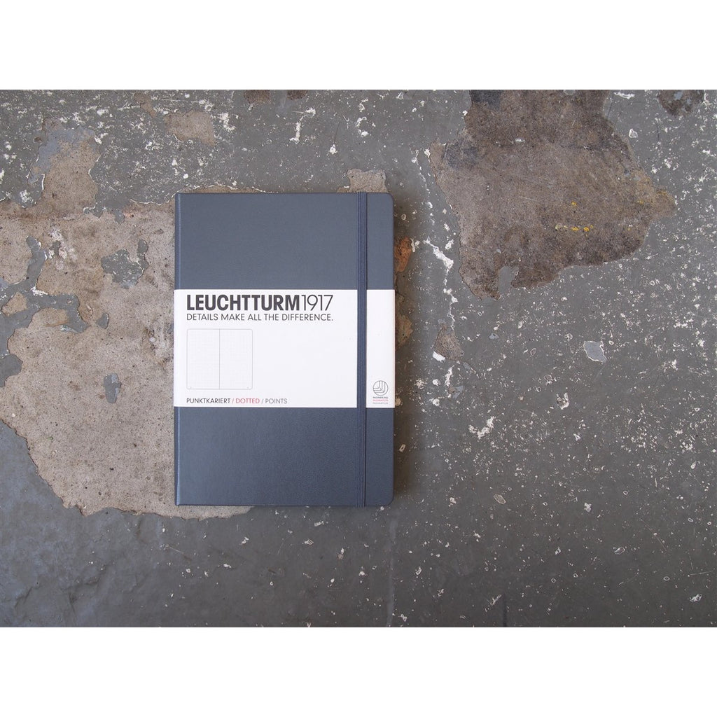 <center>Leuchtturm Hardcover A5 Notebook - Anthracite (Dot)</center>
