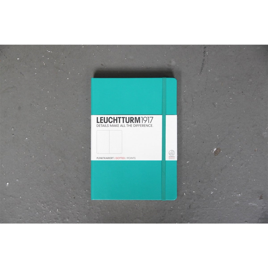 <center>Leuchtturm Hardcover A5 Notebook - Emerald (Dot)</center>