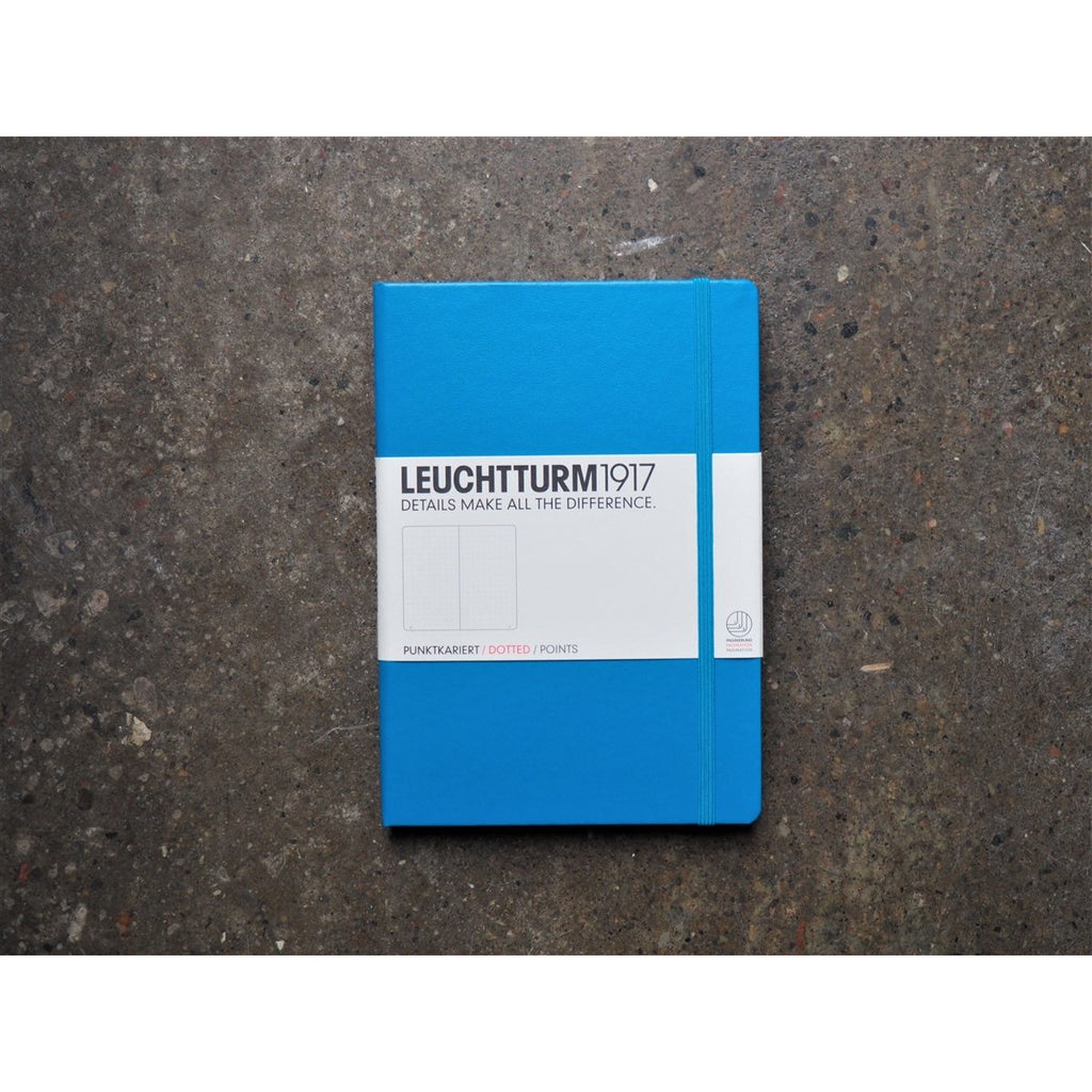 <center>Leuchtturm Hardcover A5 Notebook - Azure (Dot)</center>