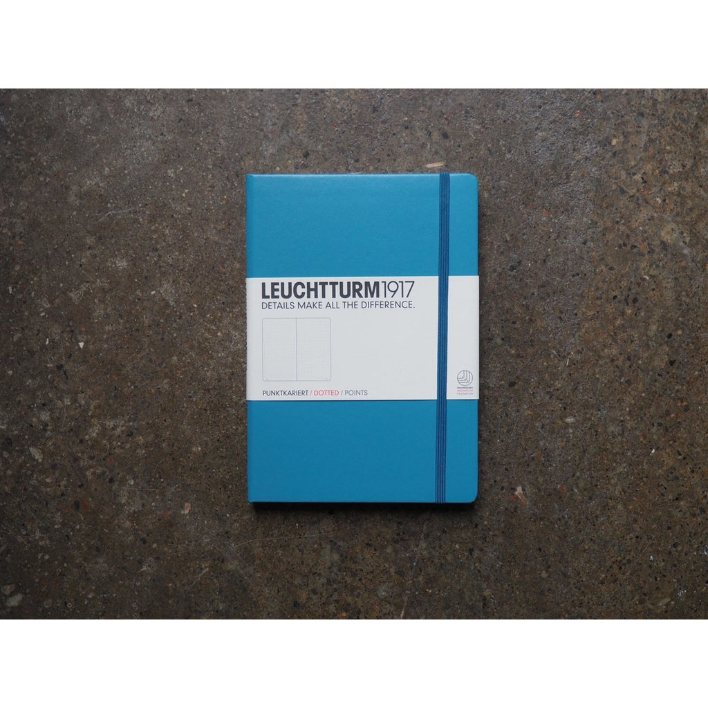 <center>Leuchtturm Hardcover A5 Notebook - Nordic Blue(Dot)</center>