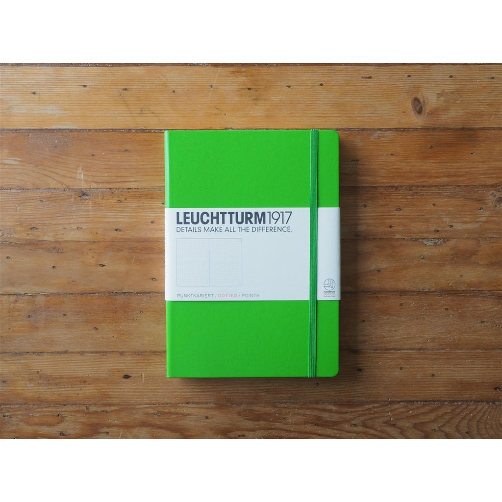 <center>Leuchtturm Hardcover A5 Notebook - Fresh Green (Dot)</center>