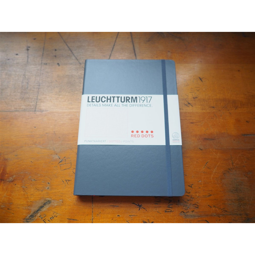<center>Leuchtturm Hardcover A5 Notebook - Special Edition - Anthracite (Red Dot)</center>