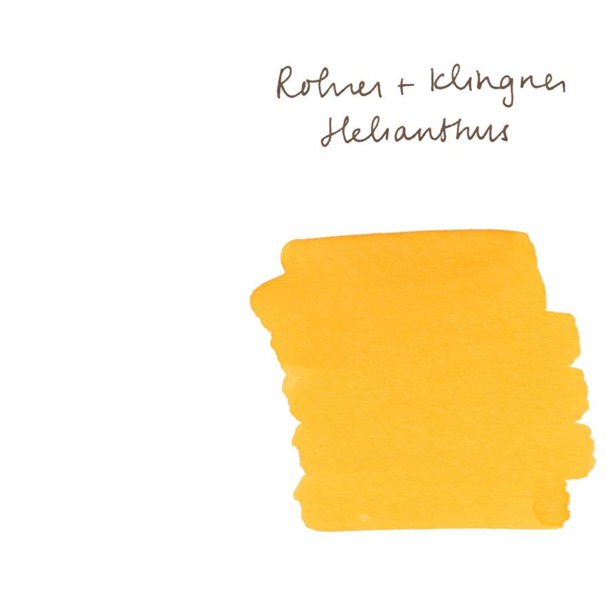 <center>Rohrer & Klingner Fountain Pen Ink (50mL) - Helianthus (Yellow)</center>