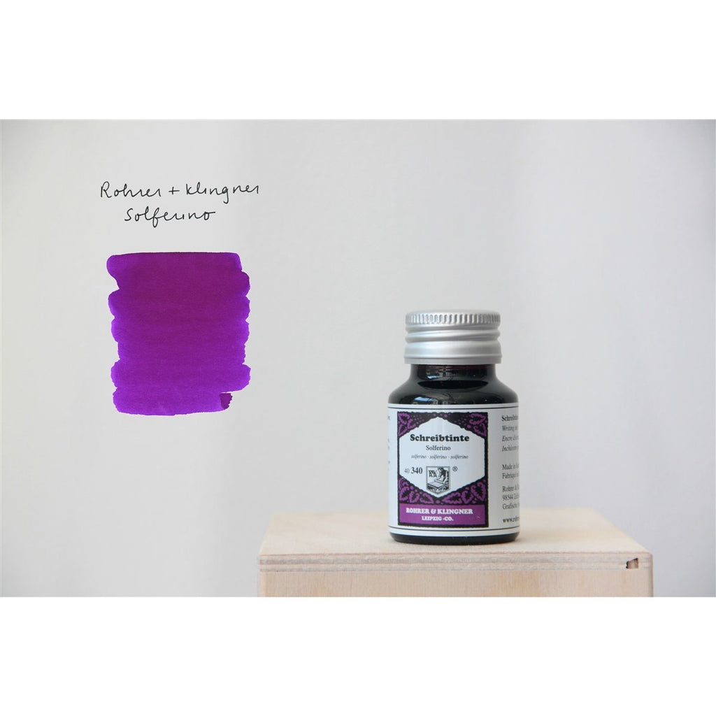 <center>Rohrer & Klingner Fountain Pen Ink (50mL) - Solferino (Violet)</center>
