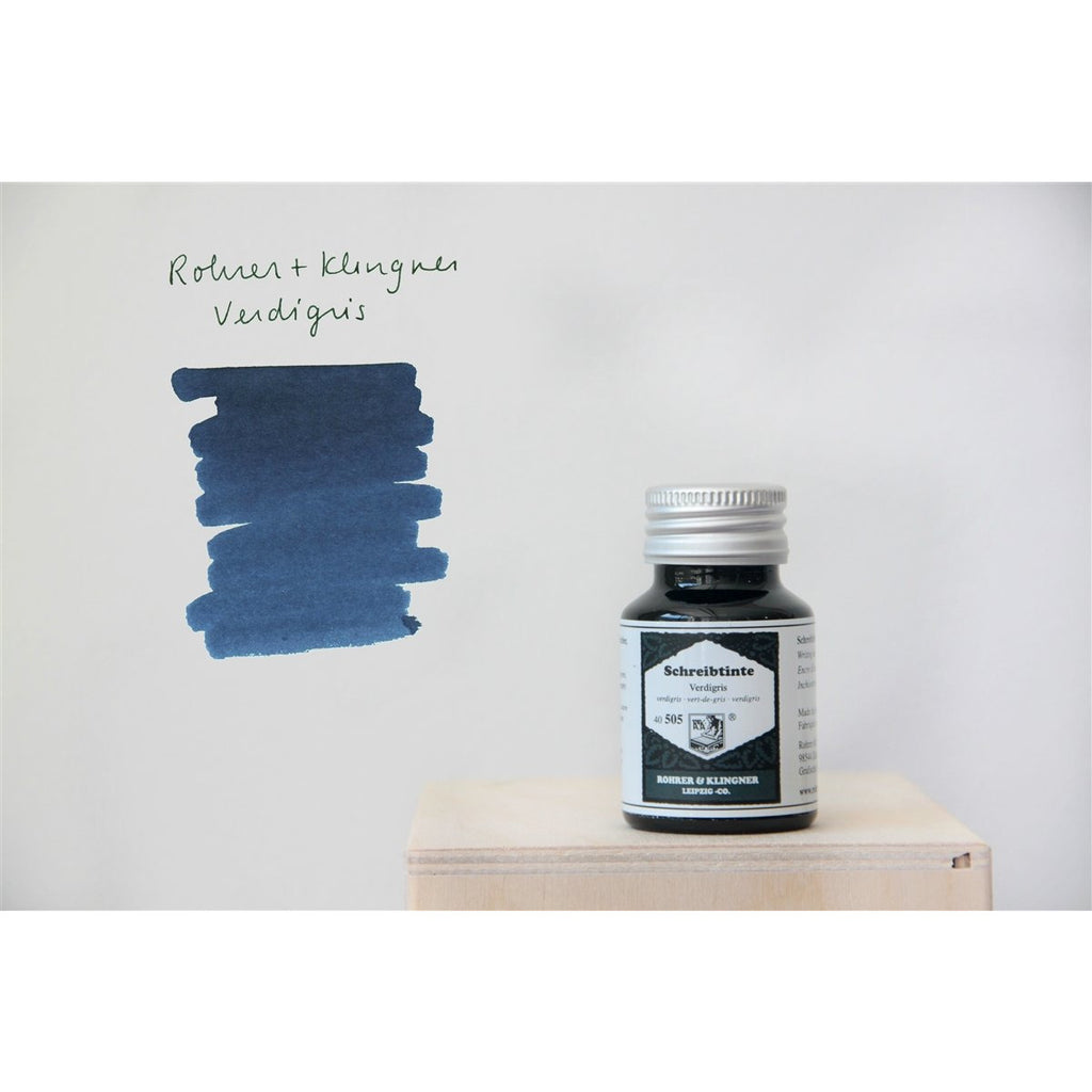 <center>Rohrer & Klingner Fountain Pen Ink (50mL) - Verdigris</center>