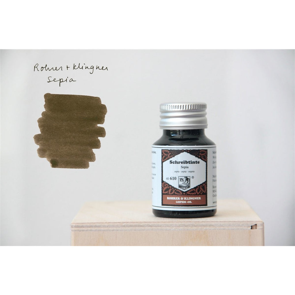 <center>Rohrer & Klingner Fountain Pen Ink (50mL) - Sepia</center>