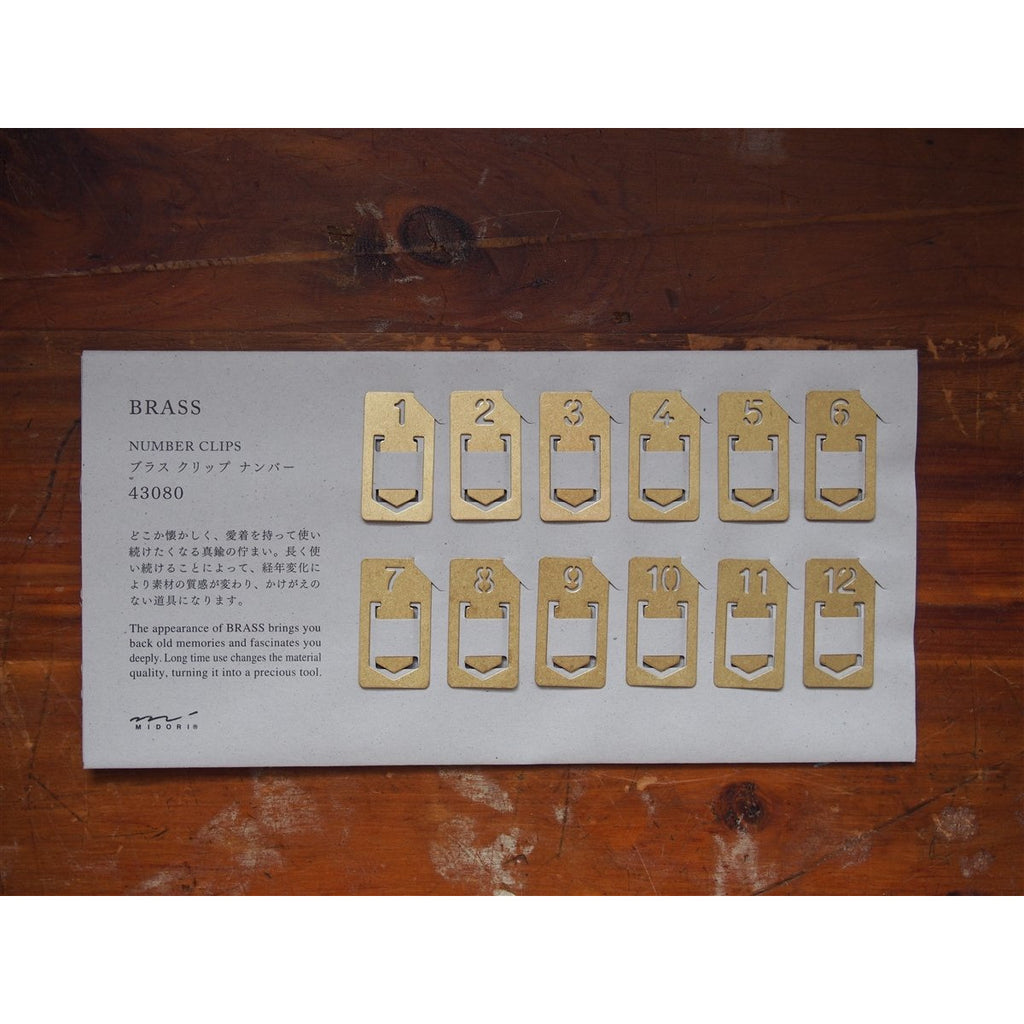 <center>Traveler's Company Brass Number Clips</center>