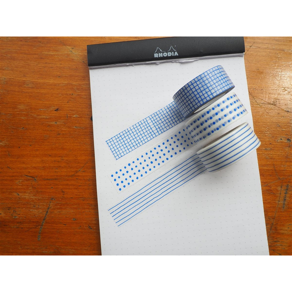<center>Classiky x Mitsou Washi Tape - Blue (Set of 3)</center>