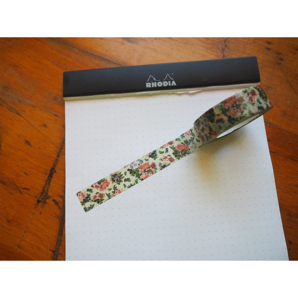 <center>MT Washi Tape - Vintage Flowers (MTEX1P103)</center>