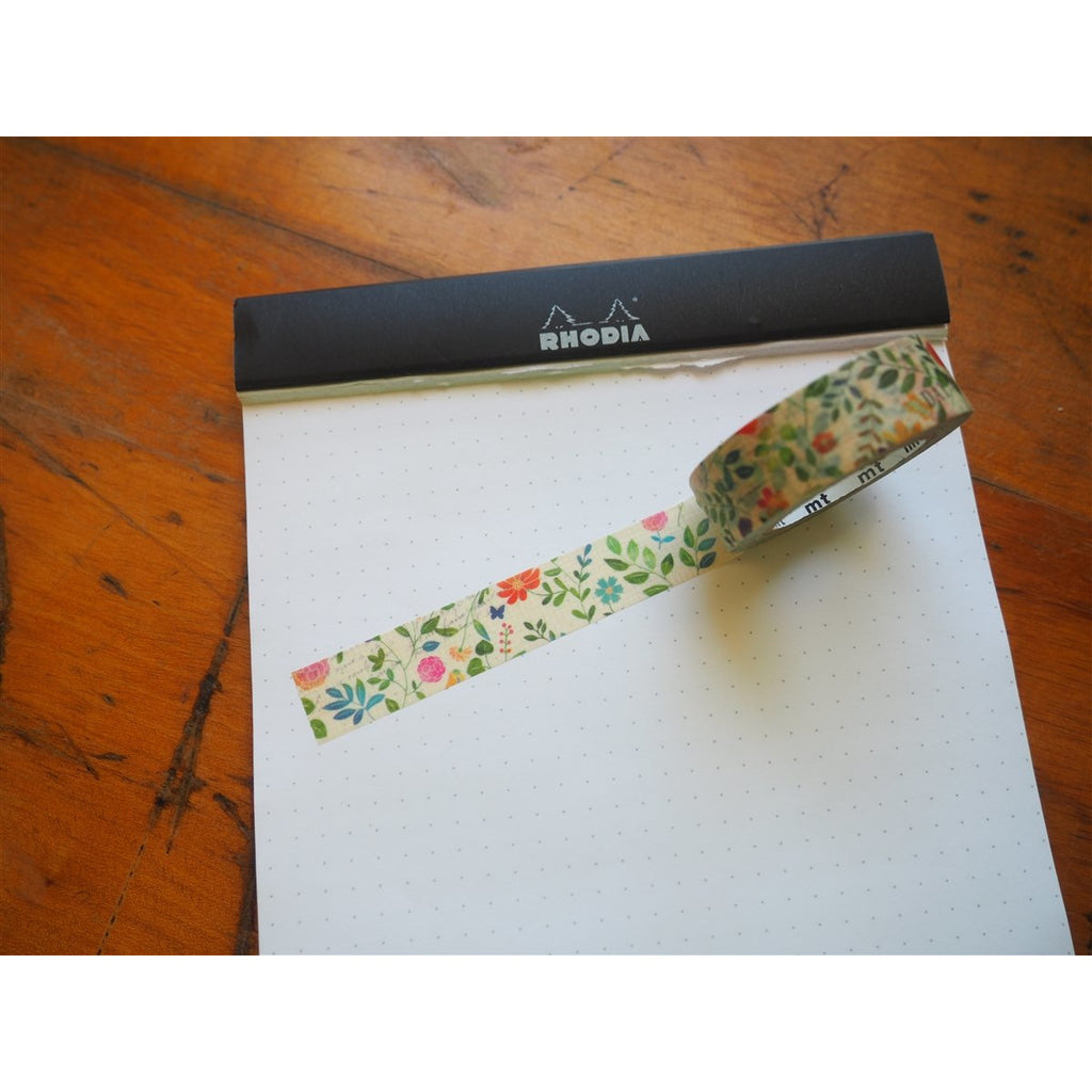 <center>MT Washi Tape - Vintage Flowers on Graph (MTEX1P109)</center>