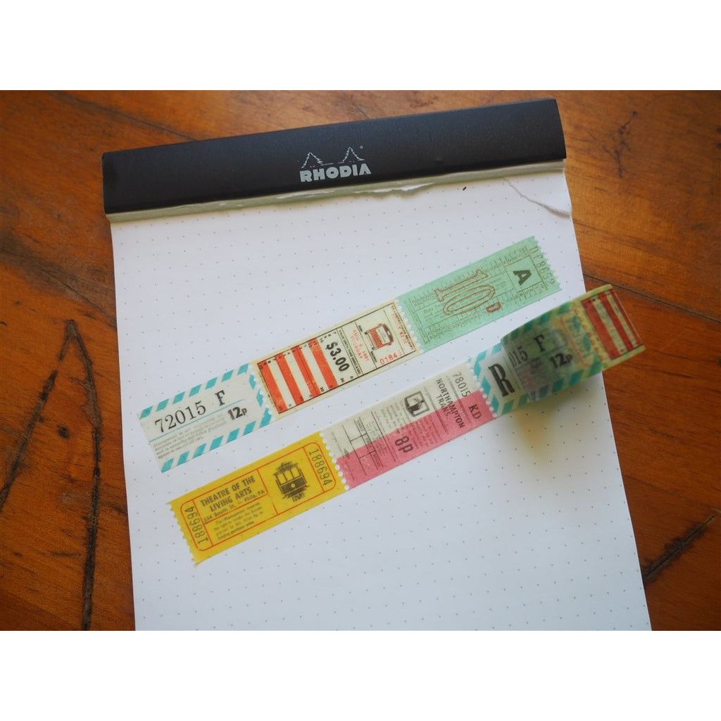 <center>MT Washi Tape - Train Tickets (MTDP1P02)</center>