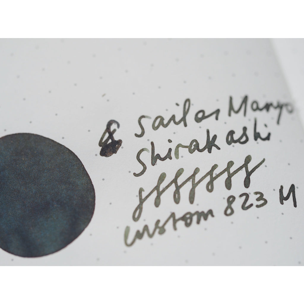 Sailor Manyo Fountain Pen Ink (50mL) - Shirakashi