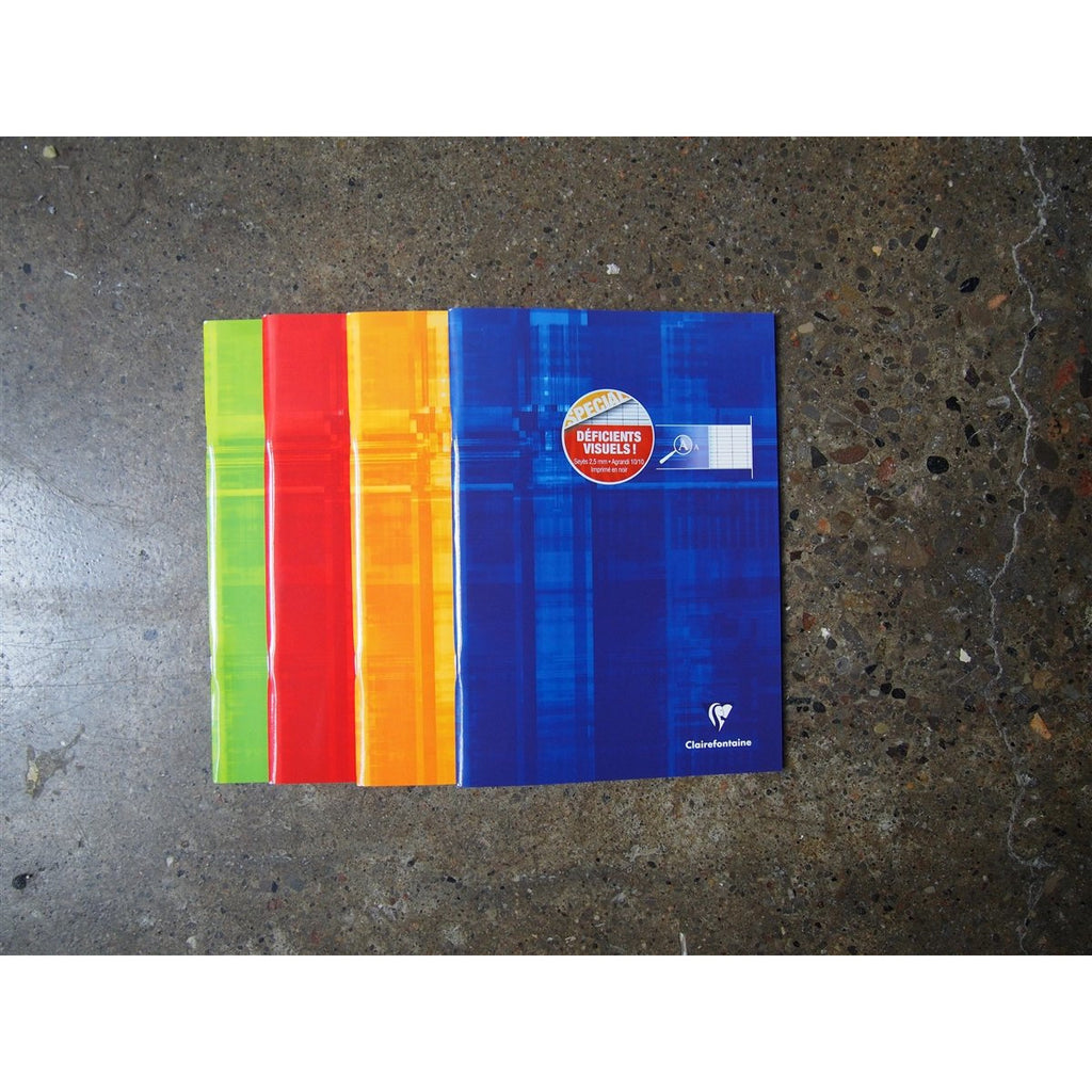 <center>Clairefontaine Staplebound Notebook (21 x 29.7cm) - Special Large Seyes French Ruled</center>