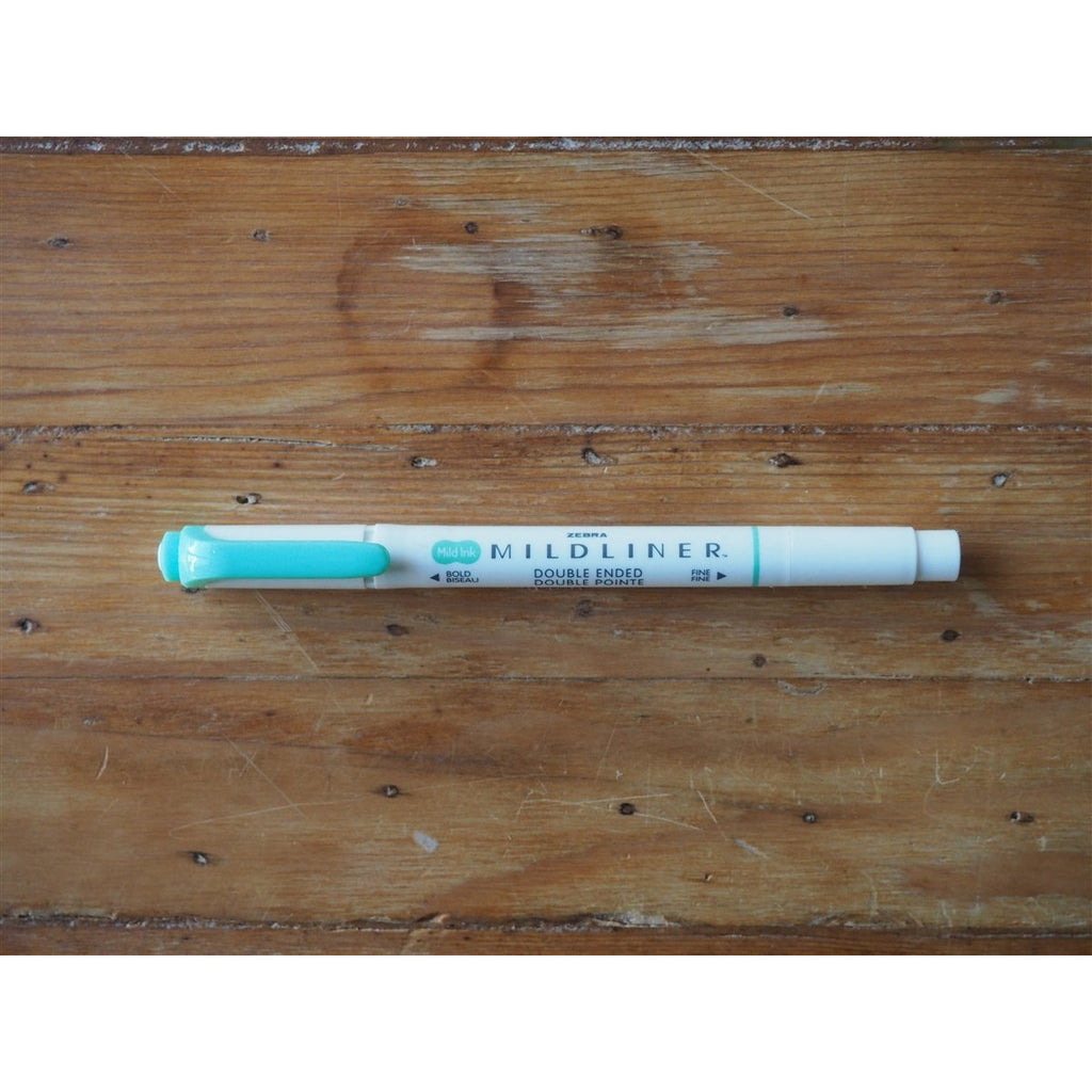<center>Zebra - Mildliner Highlighter - Blue Green</center>