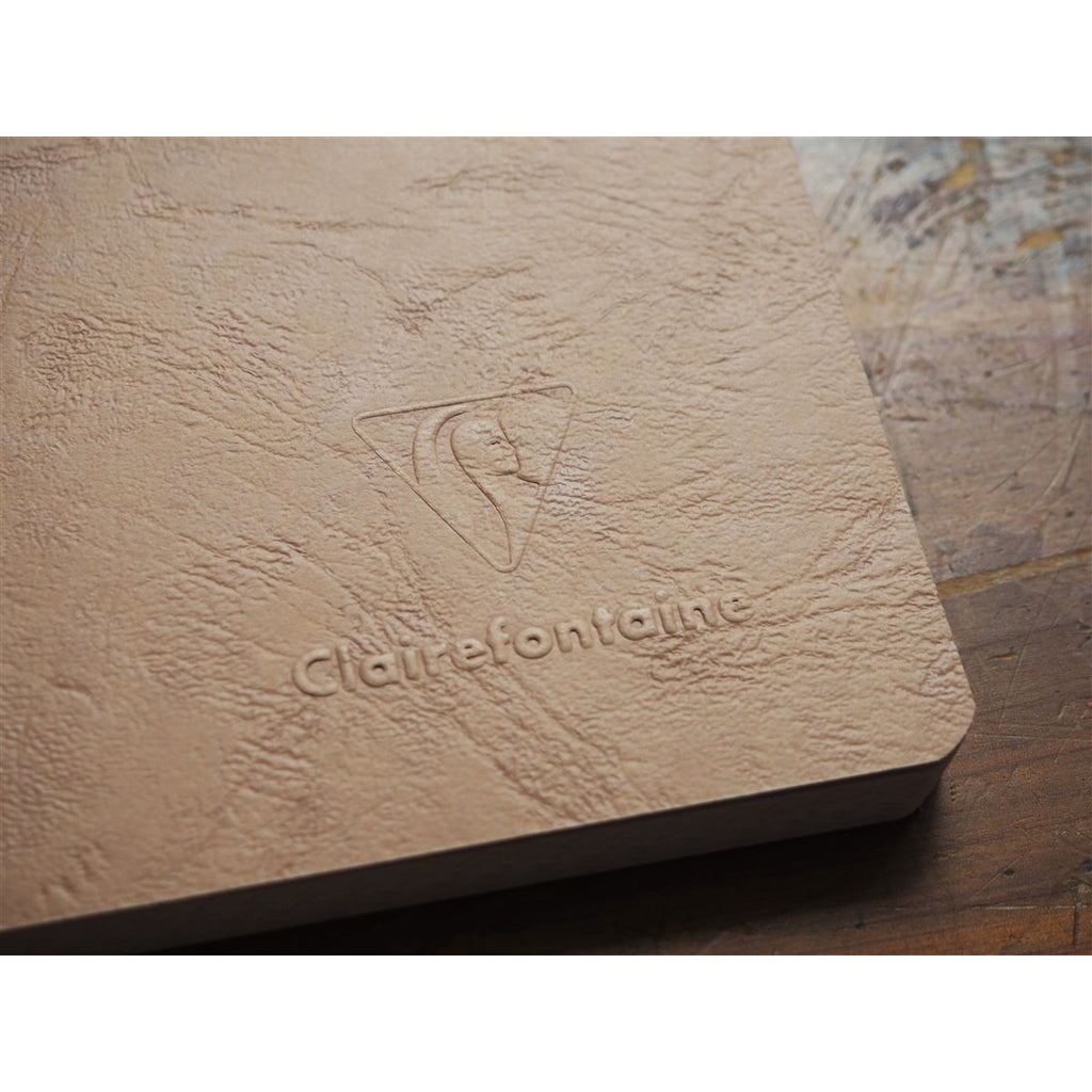 <center>Clairefontaine Age-Bag Tan Notebook A4 - Graph</center>