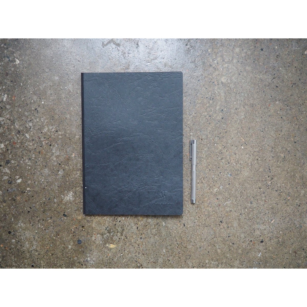 <center>Clairefontaine Age-Bag Black Notebook A4 - Lined</center>