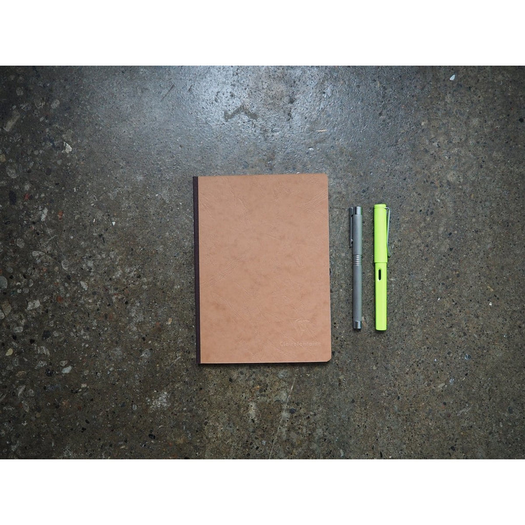 <center>Clairefontaine Age-Bag Tan Notebook A5 - Graph</center>