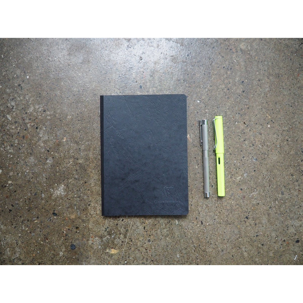 <center>Clairefontaine Age-Bag Black Notebook A5 - Lined</center>