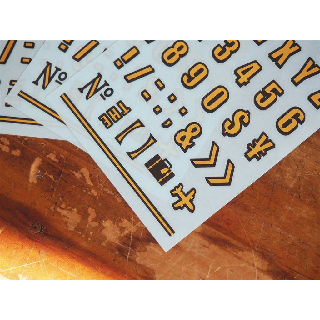 <center>Midori Alphabet and Number Stickers - 3 Sheets</center>