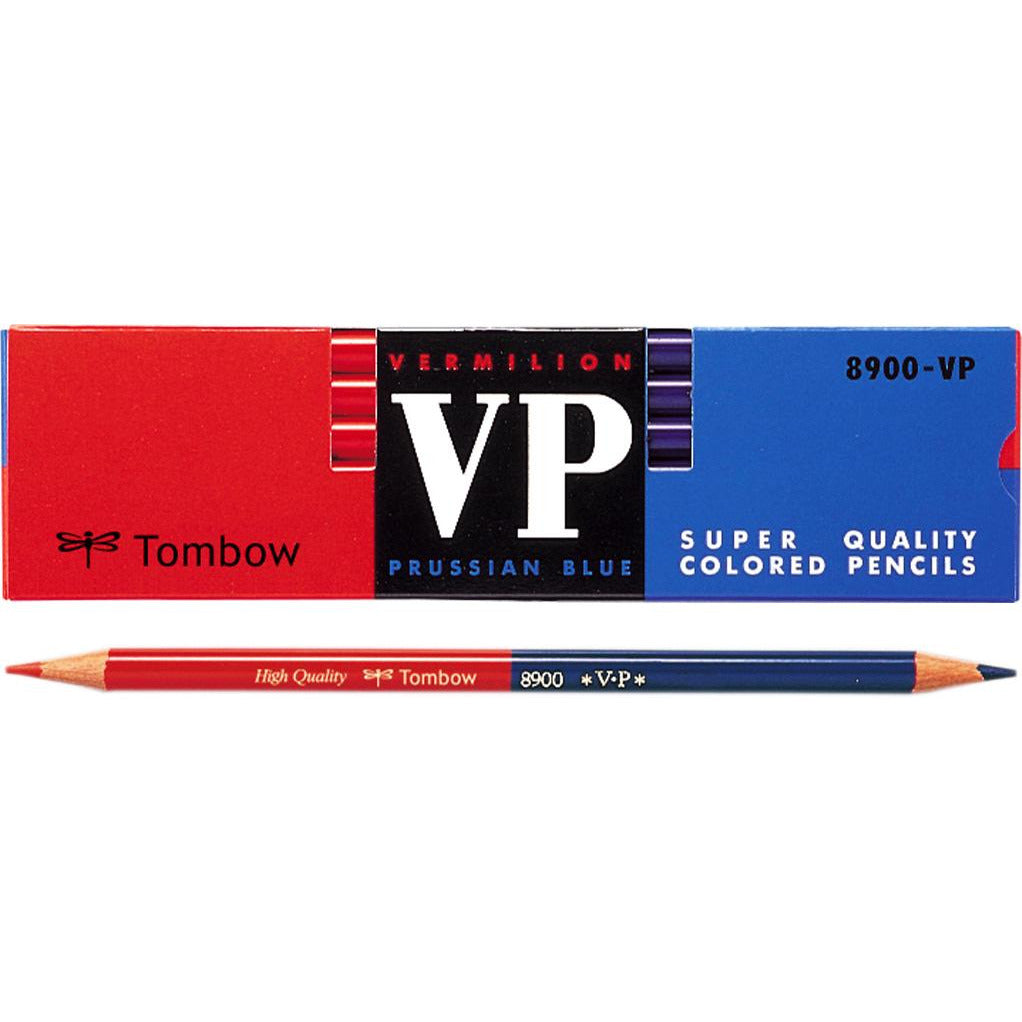 Tombow VP 8900 Vermillion/Prussian Blue Pencil