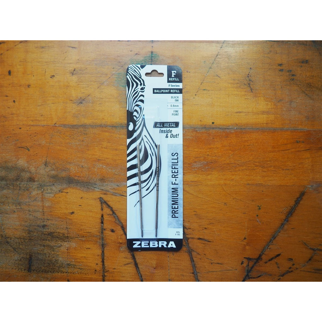 <center>Zebra F-701 Ballpoint Refill - Black - Pack of 2 </center>