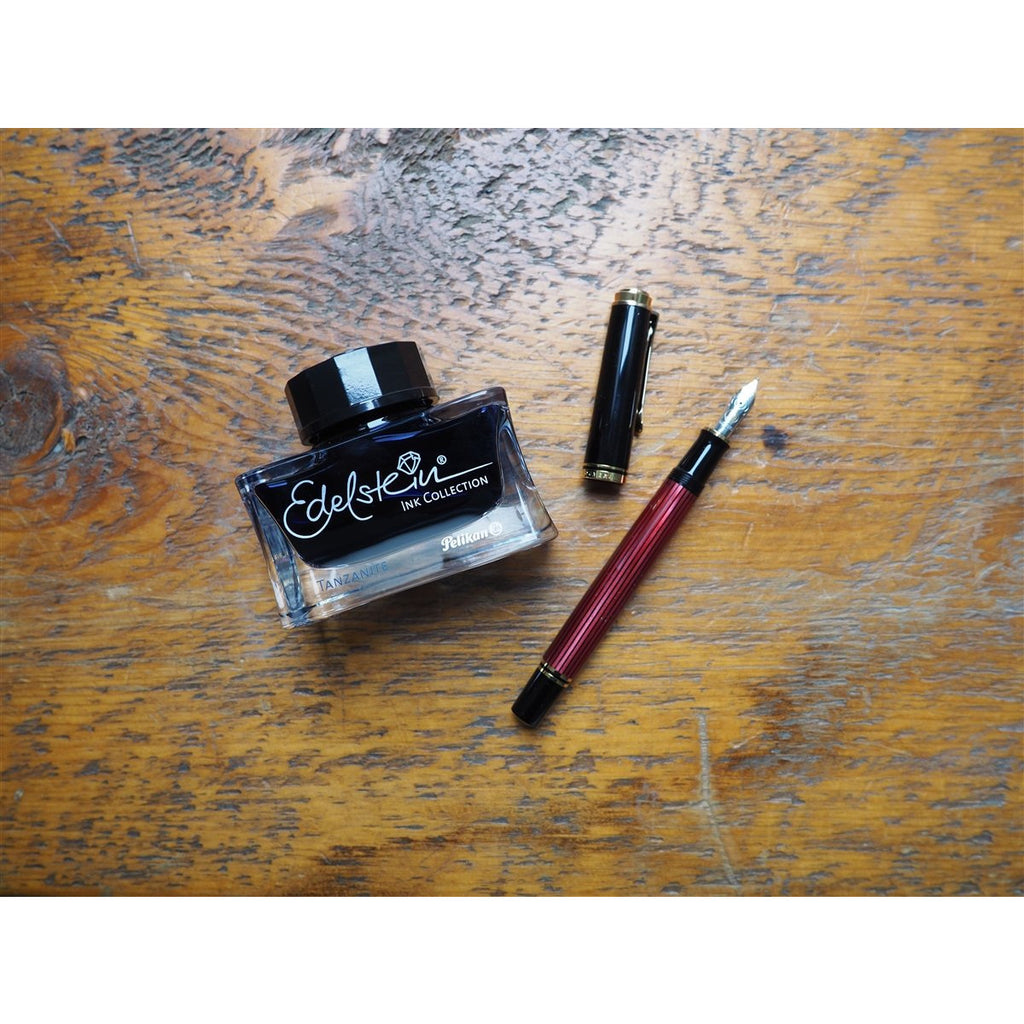 <center>Pelikan Souveran M400 Fountain Pen- Black Red</center>